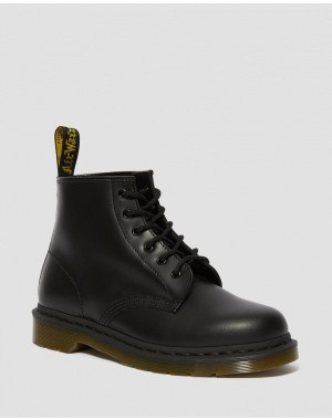 Black Friday 2020 Botines de piel con cordones 101 Smooth - BLACK SMOOTH Barato