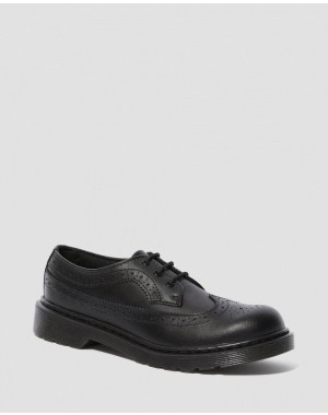 3989 YOUTH LEATHER BROGUE SHOES - BLACK T LAMPER Barato