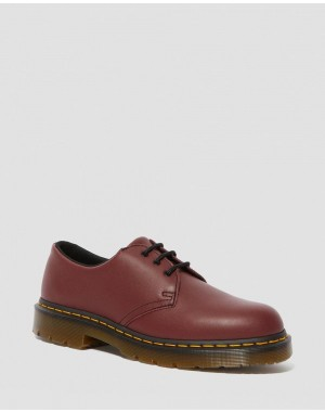Black Friday 2020 Zapatos de piel 1461 antideslizantes - CHERRY RED INDUSTRIAL FULL GRAIN Barato