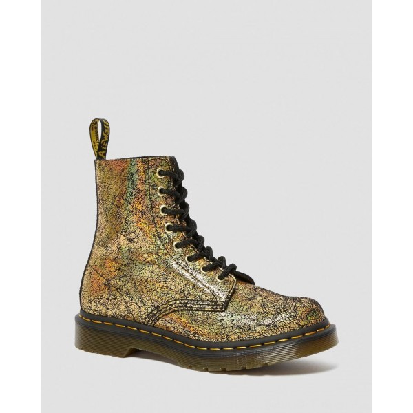 Botas 1460 Pascal Iridescent Crackle - GOLD IRIDESCENT CRACKLE Barato